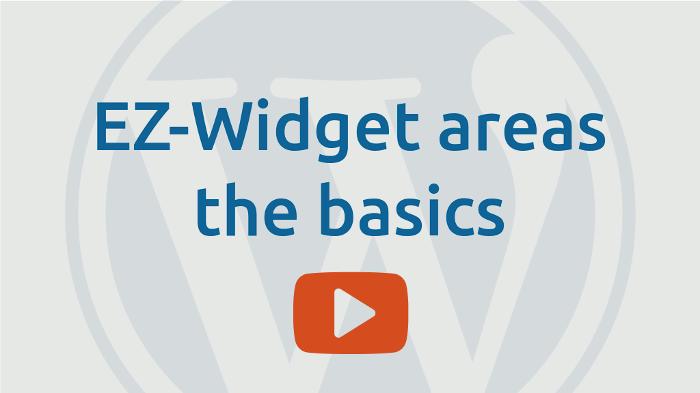 EZ-Widget areas the basics
