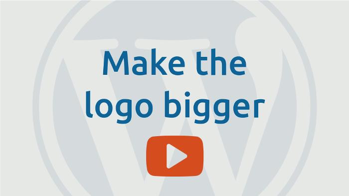 Make the logo bigger