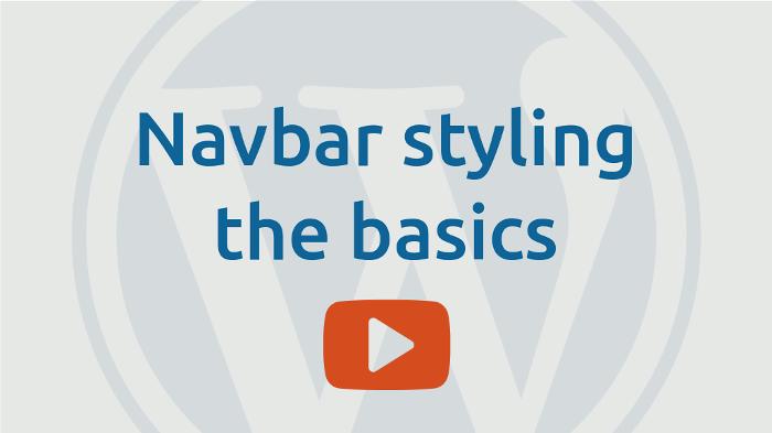 Navbar styling basics