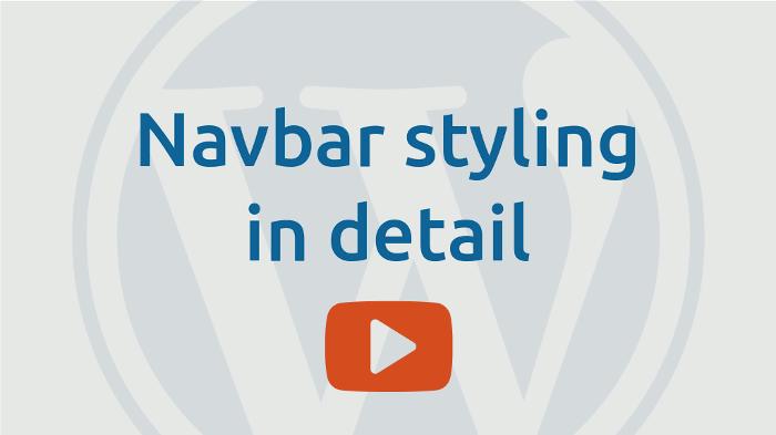 Navbar styling detail