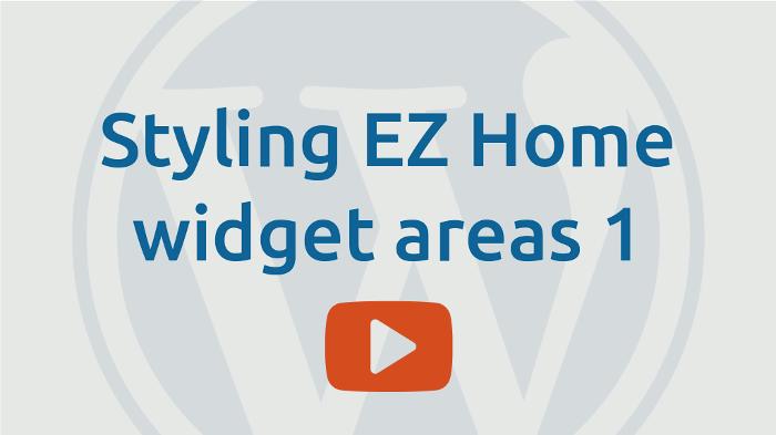 Styling EZ-Home widget areas