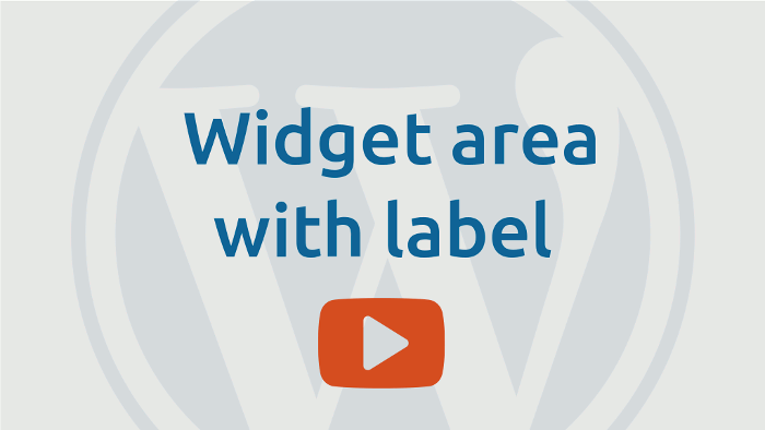 Widget area with label