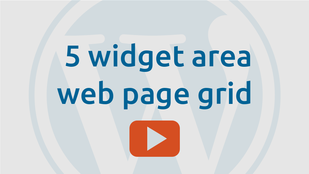 5 widget areas in a web page in a grid layout