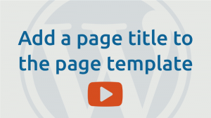 Add page title to page template