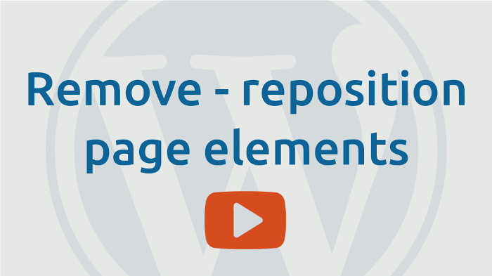 Remove or reposition page elements (add-remove actions)