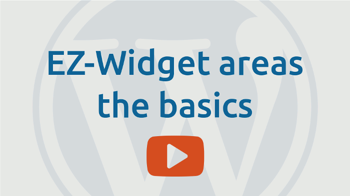 EZ-Widget areas the basics
