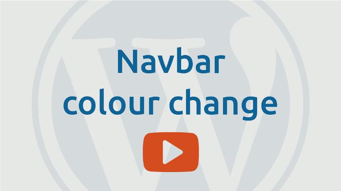 Navbar colour change