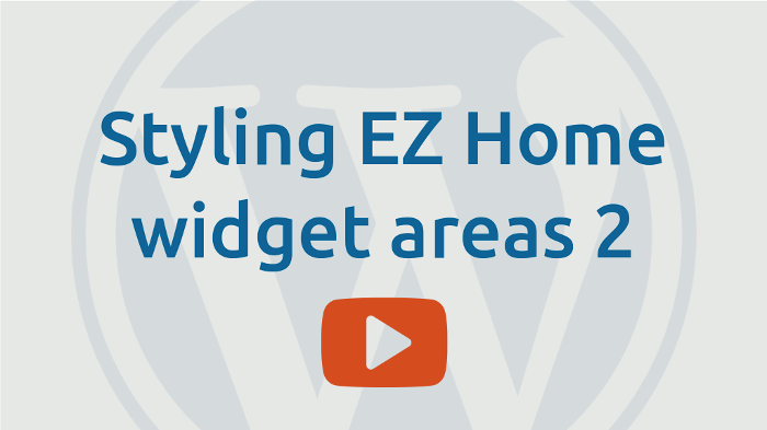 Styling EZ-Home widget areas 2