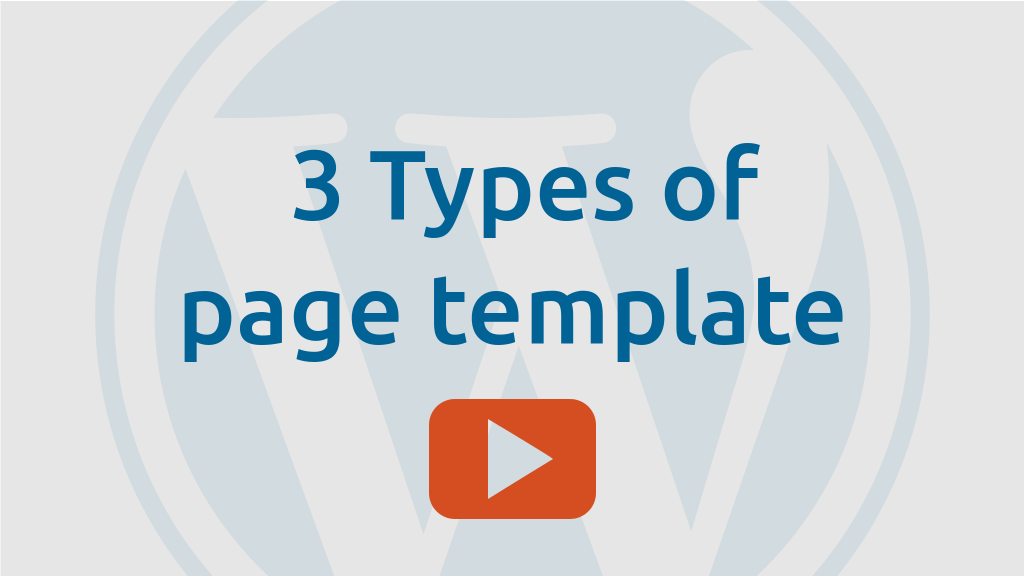 3 Types of page template in Dynamik Website Builder