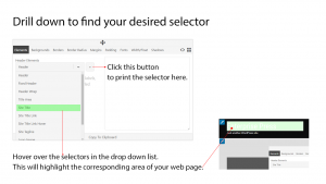 Drill down the FE CSS Builder options to find a selector